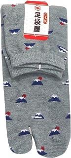 足袋屋 レディース 富士山 柄 足袋 ソックス (婦人 日本製 靴下) 22-25cm