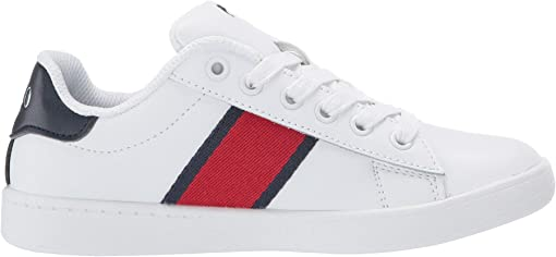 White Leather/Red/Navy Striping and Americana Boy Bear