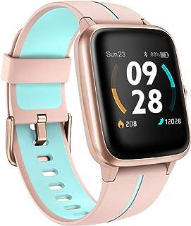 Reloj Inteligente Mujer GPS, Smartwatch 5ATM Impermeable 14 Modos Deporte con Nadar Modo con Pulsómetro, Calorías, Podómetro, Actividad Inteligente Reloj Deportivo para Mujer Hombre Niño Android iOS