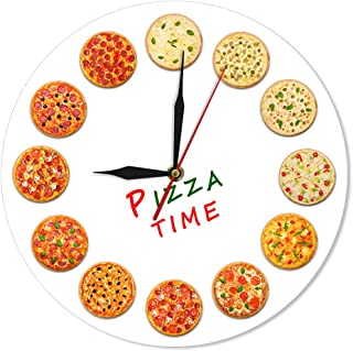 The Geeky Days Different Tastes Pizza Time Modern Silent Quartz Wall Clock Italy Dreams Kitchen Home Decor Neapolitan Style Italian Food Art Gastronome Gifts