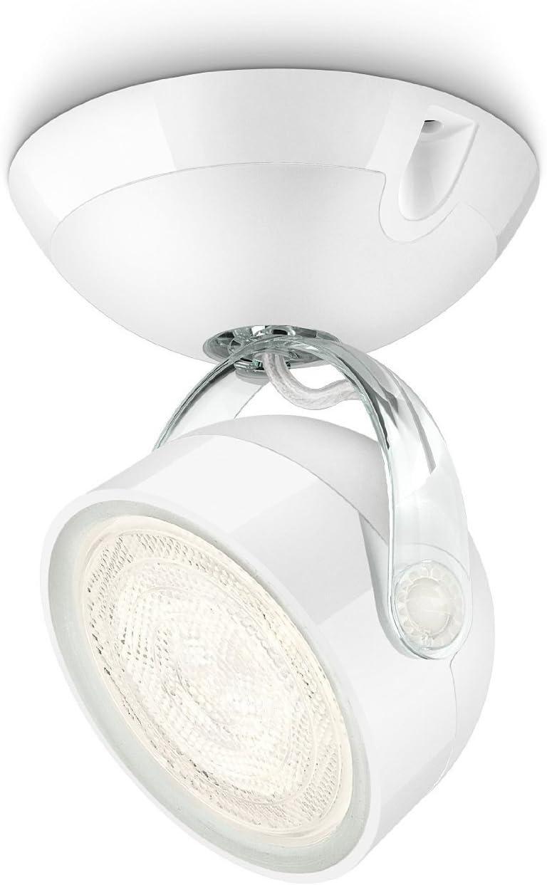 Philips myLiving Dyna - Foco de interior, LED, luz blanca cálida, 3 W, IP20, color blanco