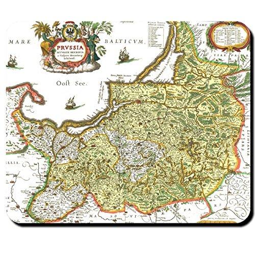 Alte Preußen Landkarte Ostsee Westpreußen Ostpreußen Deutschland Friedrich der Große Kurfürst Königreich Preußen Königsberg Karte - Mauspad Mousepad Computer Laptop PC #7940