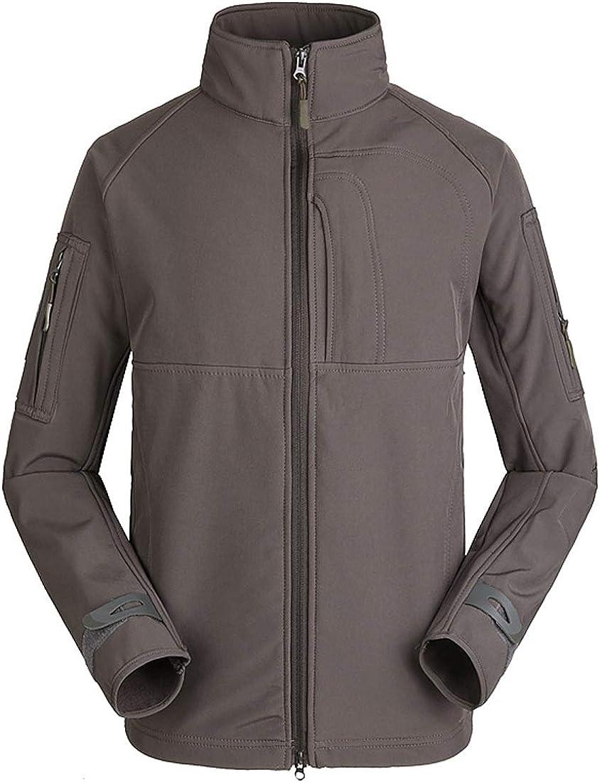 Military Style Men Camouflage Outdoor Windproof Jacket Fleece Zip Up Warm Keep Softshell Winter Thermal Outwear