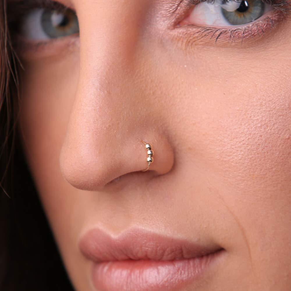 14K Nose Ring 24 22 20 Gauge Gold Nose Ring NOSE RING Gold Filled Nose Ring Nose Hoop Gold Filled Nose Hoop Nose Hoop