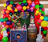 100Pack Balloon Garland & Arch Kit for Fiesta Party -100Pack Latex Balloons, 16 Feets Arch Balloon Decoration Strip for Mexican Party, Taco, Coco Party, Birthday, Baby Shower,Wedding