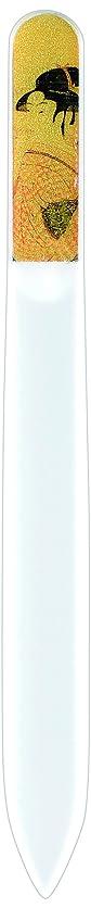 持参見習い弱める橋本漆芸 ブラジェク製高級爪ヤスリ 特殊プリント加工 ポッピンを吹く女 紙箱