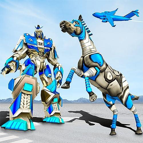 Robot Horse Police Plane Transporter