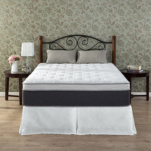 Zinus 13 Inch Euro Boxtop Temperature Adaptive Spring Mattress, Queen