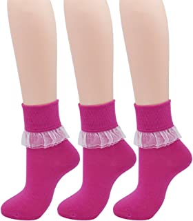 Women Lace Ruffle Frilly Ankle Socks Fashion Ladies Girl Princess YYS09
