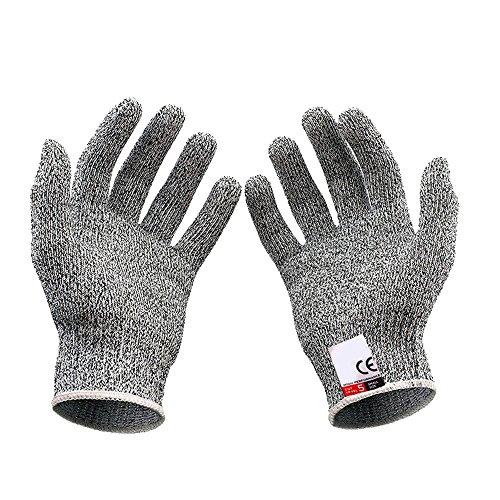 Mintice 1 paar gesneden resistente handschoenen bewijs voedsel kwaliteit niveau 5 bescherming veiligheid keuken shucking vis vet vlees snijden XL