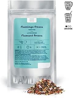 DAVIDsTEA Flamingo Fresca Loose Leaf Tea, Premium White Tea with Strawberry and Flamingo Candies, Fruity Iced Tea, 2 ounces / 50 grams