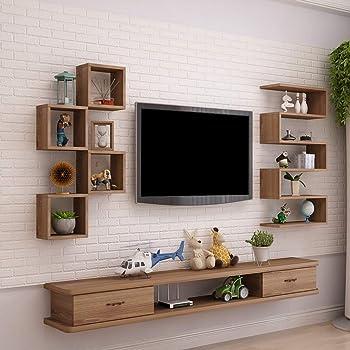 Mueble de televisión de Pared Estantería de Pared con cajones ...