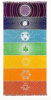 Ysislybin Yoga filt, strandhandduk, yogamatta, gymnastikmatta, yogahandduk, ha yogahandduk, multifunktionell bomull bohemi...
