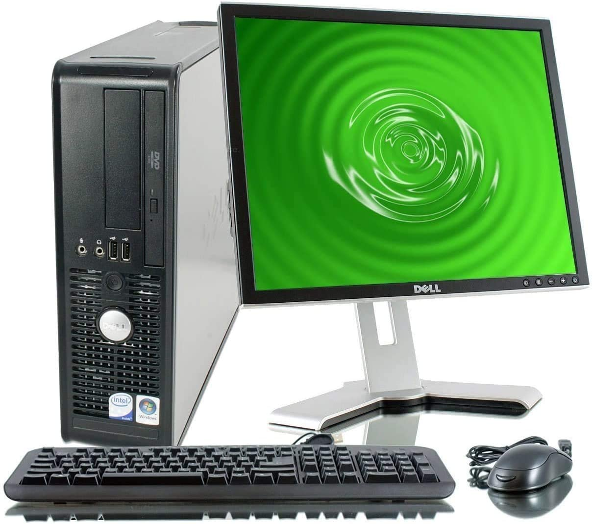 2018 Dell OptiPlex Desktop Complete Computer Package with DVD, WiFi, Windows 10 - Keyboard, Mouse, 19in LCD Monitor(Brands May Vary) (Renewed) - Multi-Language Support English/Spanish