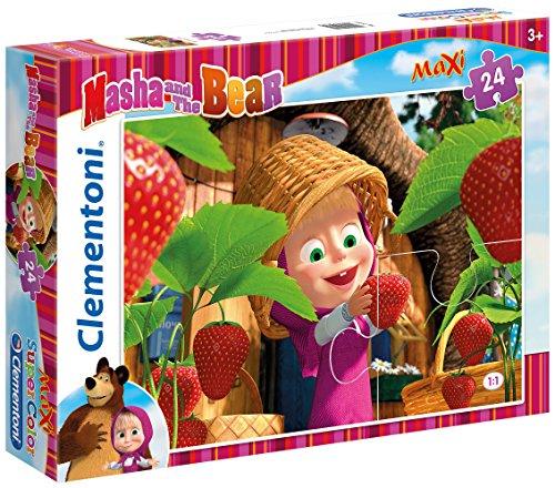 Clementoni–Super Color Puzzle 24Teile Maxi–Mascha und der Bär–24034