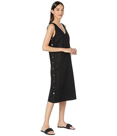 Madewell Linen-Cotton Side-Button Midi Dress