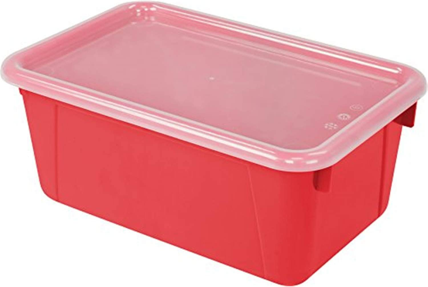 Storex 正規取扱店 Small Cubby Bin お気に入り Classroom Red with Cover