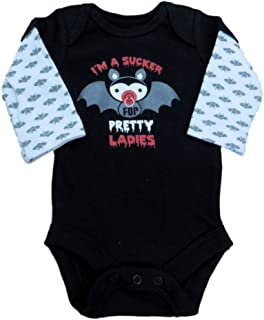 Faded Glory Infant Boy Black Vampire Creeper Style Bodysuit Halloween Shirt