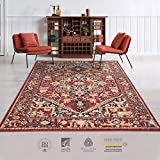 Moldabela Alfombra de Lana Natural (Bella Brown & Red, 2x3 m)
