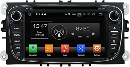 Kunfine Android 9.0 Octa Core Car DVD GPS Navigation Multimedia Player Car Stereo for Ford Mondeo 2007 2008 2009 2010 Tourneo Connect 2010 Autoradio Volante Control with 3G WiFi Bluetooth Free SD Map