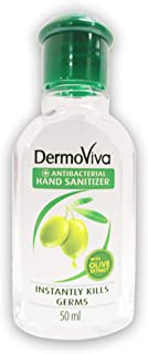 DERMOVIVA Anti-Bacterial Hand Sanitizer with Olive Extracts, 50 ml