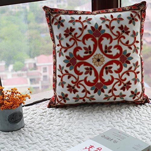 Yancyong  El Sofá Cama Silla Coche Espalda Cintura Almohada,45X45Cm con Funda De Almohada Core,Splendid Flores Florecen