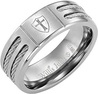 Men's Titanium Ring (Christian Cross Knights Templar Shield)