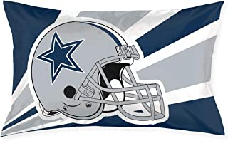 Marrytiny Custom Pillowcase Colorful Dallas Cowboys American Football Team Bedding Pillow Covers Rectangular Pillow Cases for Home Couch Sofa Bedding Decorative - 20x30 Inches