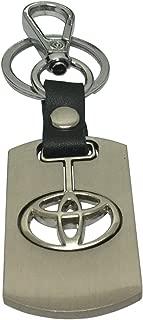 Daiden Chrome Metal Keychain Key Chain Ring Keyring Keyfob Key Holder for Toyota Driver Car Enthusiast Automotive
