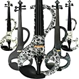 Aliyes Handmade Professional Silent Electric Violin 4/4 Full Size Professional Solid Wood Student