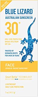 Blue Lizard Australian Sunscreen - Face Sunscreen SPF 30+ Broad Spectrum UVA/UVB Protection - 5 oz Bottle, 2 Pack