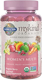 Garden of Life Mykind Organics Women's Vitamins-Real Fruit Gummies, Multi, Berry, 120 Count (Pack of 1)