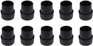 AEROBATICS 10 st svart botten mössa för mini studsmatta ben latex benkeps för studsmatta, förhindrar repor och ljud