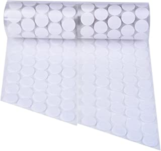 500 Pièces 20 mm de Diamètre Rubans Auto-Adhésifs à Crochets Points Auto-Adhésifs Rubans à Pois Ronds avec Fixation de Col...