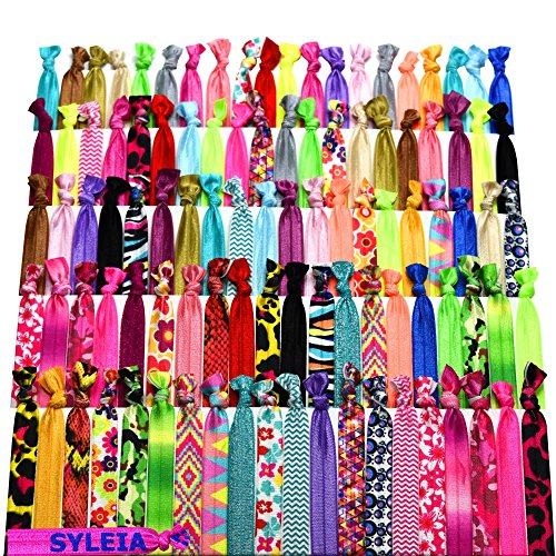100 pack no crease hair ties - 1