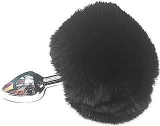 black bunny tail butt plug