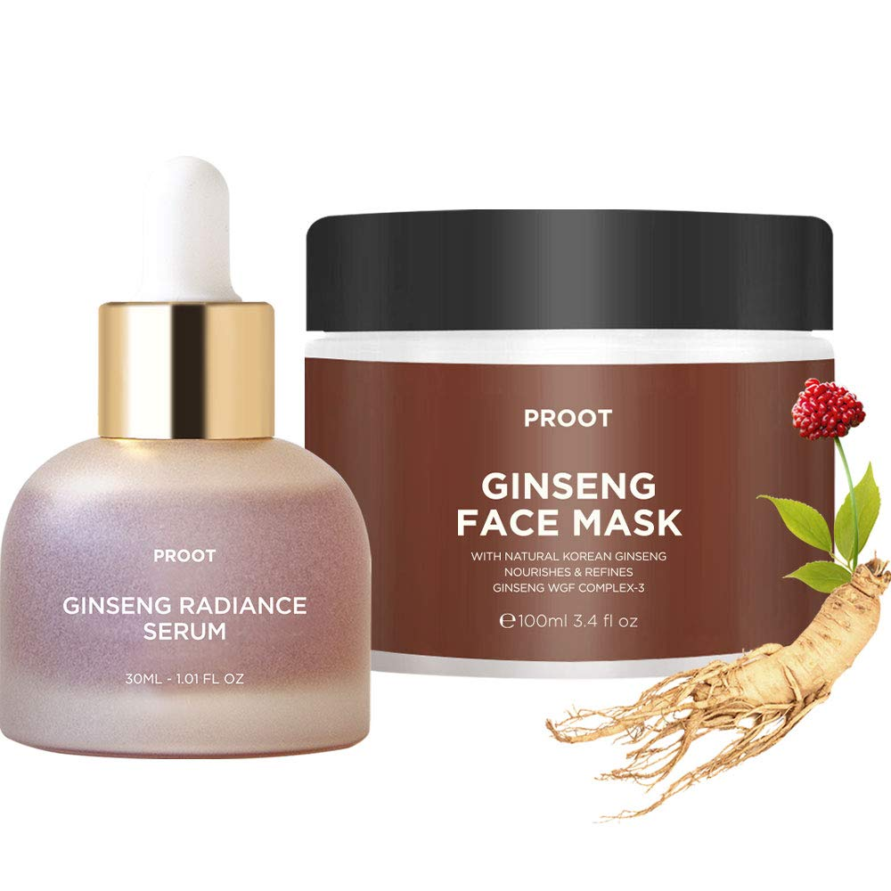 Ginseng Radiance Serum + Face Bundle Mask Max 64% OFF Formulated Special price w