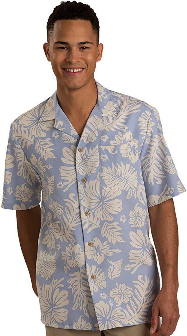 gift Phoenix Mall Edwards Hibiscus Two Color Camp Shirt