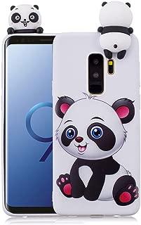 3D Cartoon Panda Case for Samsung Galaxy S9 Case LAPOPNUT Soft Back Candy Colour Lovely Girly Bear Design Slim Flexible Protective Case Cover Rubber Bumper for Girls, Cartoon Panda