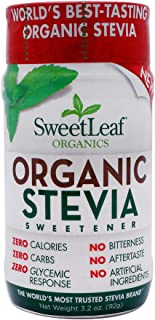Sweet Leaf Stevia Organic Sweetener Powder, 3.2 Ounce