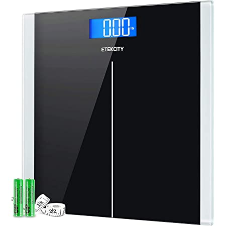 Etekcity Digital Body Weight Bathroom Scale with Step-On Technology, 400 Lb, Body Tape Measure Included