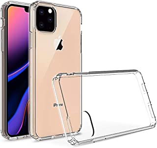 Kit Me Out World Clear Hybrid Series Case Designed for iPhone 11 Pro Max 6.5 Inch Case, Transparent Hard (PC) Back and Cle...