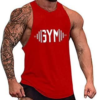 SquareAesthetics AU Men's Gym Bodybuilding Stringer Cotton Singlets Y-Back Tank Top Vest
