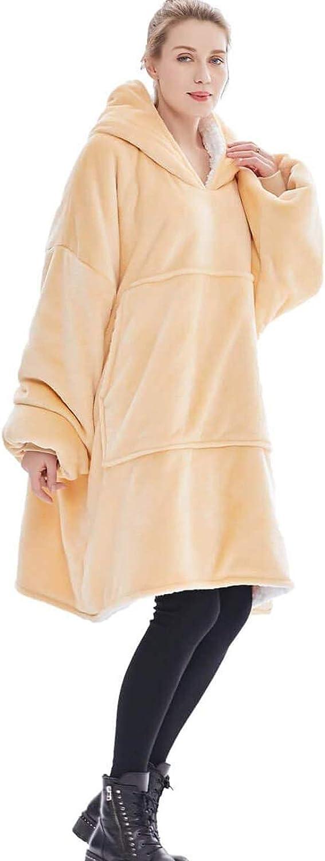 WMOFC TV Couverture Sweat-Shirt, Couverture À Capuche Surdimensionné Wearable, Douce Et Chaude Confortable Grande Poche Avant pour Adultes Hommes Femmes Adolescents Amis,04 05