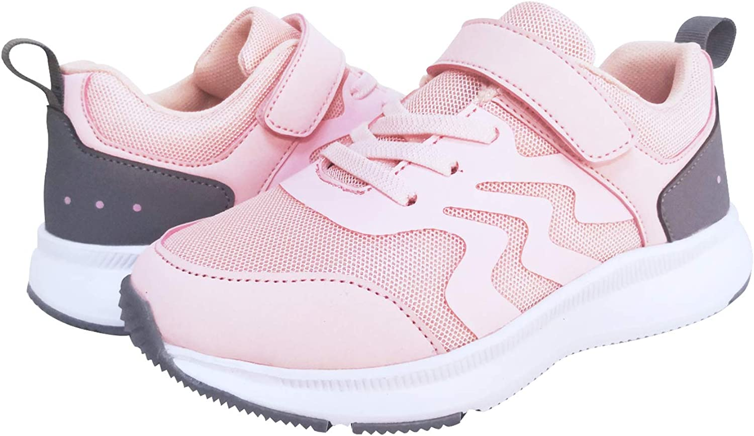 DINDRE Boys Girls Sneakers Kids Athletic Running Shoes Breathable Strap Lightweight Non-Slip Walking Shoe for Outdoor Sport School
