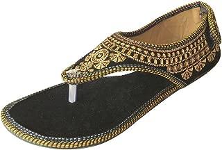 Step n Style Jaipuri Flat Sandals Salwar Kameez Saree Footwear Ethnic Khussa Jutties