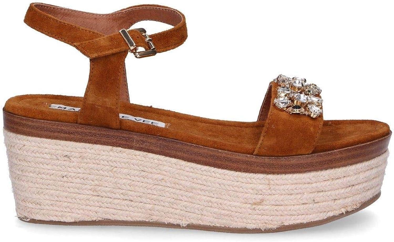 EMANUELLE VEE Women's 71816BBROWN Brown Suede Sandals