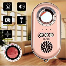 WJLING Anti Spy Hidden Camera Detectors with Built-in Motion Sensor and antitheft Alarms Ultra-Light 3-in-1 Detection and Alert Mechanism with Mini LED Flashlight (Rose Gold)