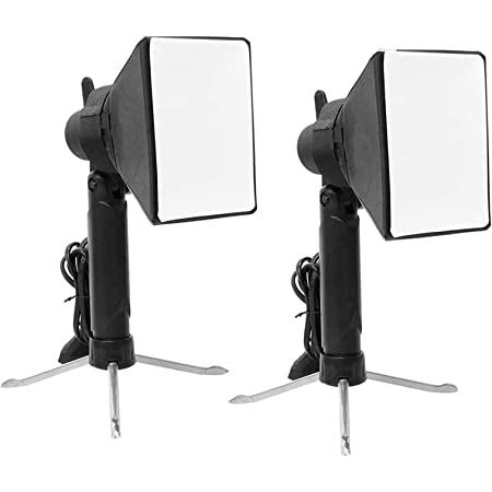 Selens Photography Table Top Lighting kit Portable 2 Pieces Softbox Led Lamp Studio Continuous Light for Video and Product