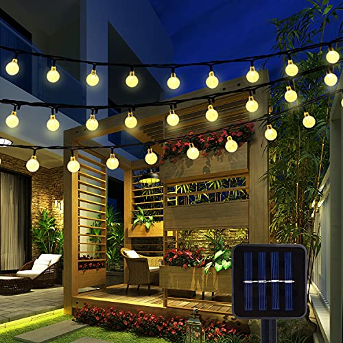 BAOANT Solar String Lights 36Ft 60 LED Crystal Ball Waterproof String Lights Solar Powered Fairy Lighting for Garden Home Patio Landscape Holiday Decorations(Warm White)